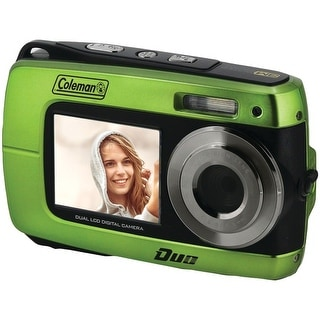COLEMAN 2V8WP-G 18.0-Megapixel Duo 2V8WP Dual-Screen Waterproof HD Digital Camera (Green)