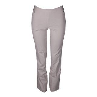 Inc International Concepts Beige Curvy-Fit Pull-On Straight-Leg Pants 4