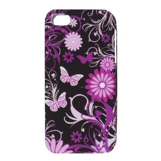 Unique Bargains Phone Butterfly Floral TPU Soft Case Cover Protector for iPhone 5 5G 5th Gen