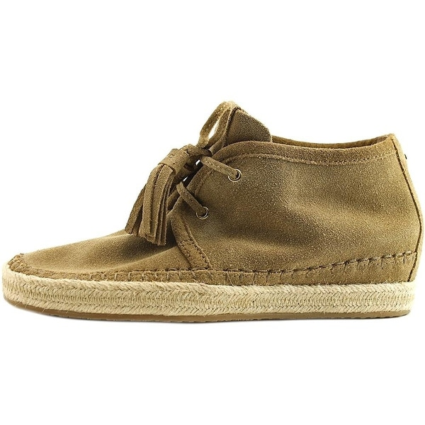 MICHAEL Michael Kors Womens Kendrick Lace Up Wedge Suede Low Top Lace Up Fash...