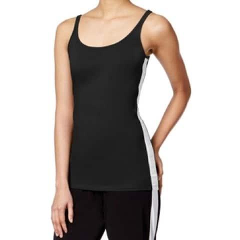 Micheal Kors Women's Colorblocked Tank Top, Black (XL)