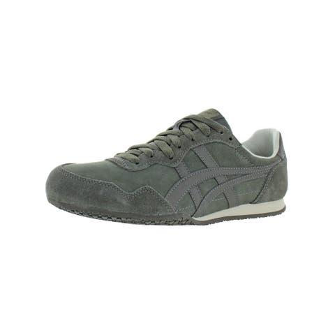 Onitsuka Tiger Mens Serrano Running Shoes Suede Lifestyle - Dark Sepia/Dark Sepia - 7.5 Medium (D)