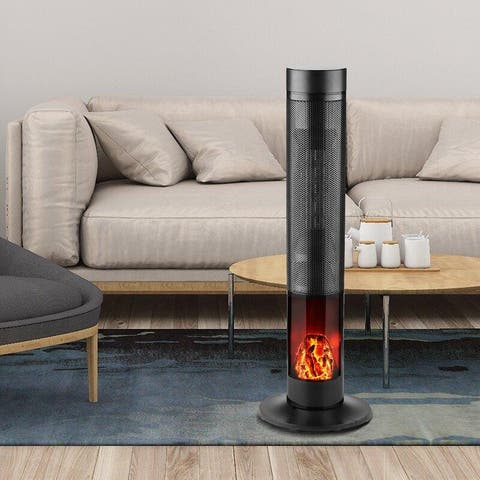 Zenova Electric Space Heater, PTC With flame Heater Large