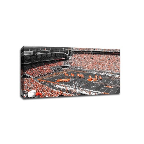 Clemson Tigers - CollegeFootball - 40x22 Gallery Wrapped Canvas Wall Art ToC