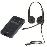 Jabra BIZ 1500 QD Duo Stereo Corded Headset With Link 860 Headset Amplifier