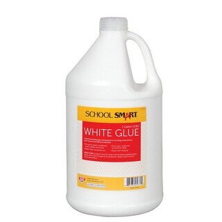 School Smart White School Glue, 1 Gallon Bottle, White