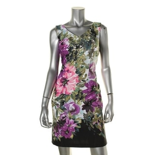 Connected Apparel Womens Casual Dress Floral Sleeveless - 6