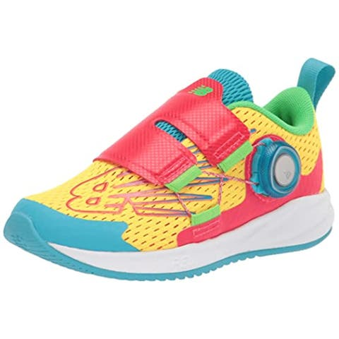 New Balance Boy's FuelCore Reveal V1 Boa Running Shoe, Atomic Yellow/Energy Red/Bayside
