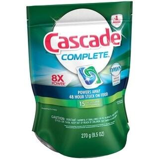 Cascade 3700097694 Complete Dishwasher Detergent, Fresh