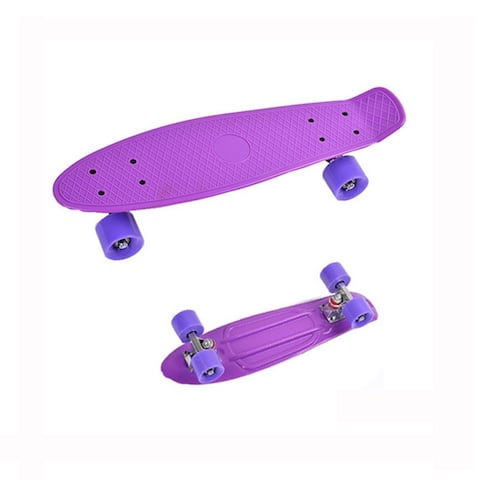 Complete Mini Cruiser Penny Style Skateboard street skate banana plastic Various colours - Purple