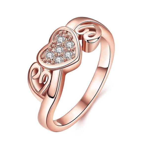 Petite Rose Gold Valentines Love Ring