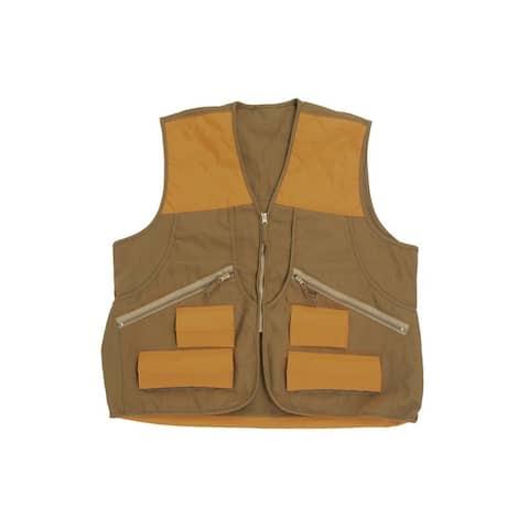 Allen Hunting Vest Mens Spring Upland Canvas Zip Front Brown