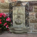 Sunnydaze French Lily Outdoor Wall Fountain - Thumbnail 15