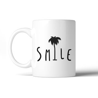 Smile Palm Tree Cute Design Ceramic Coffee Mug Unique Summer Gifts