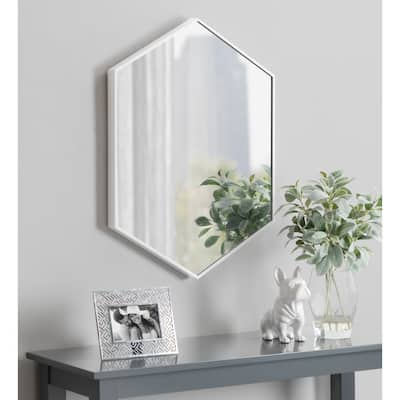 Kate and Laurel Rhodes Framed Hexagon Wall Mirror