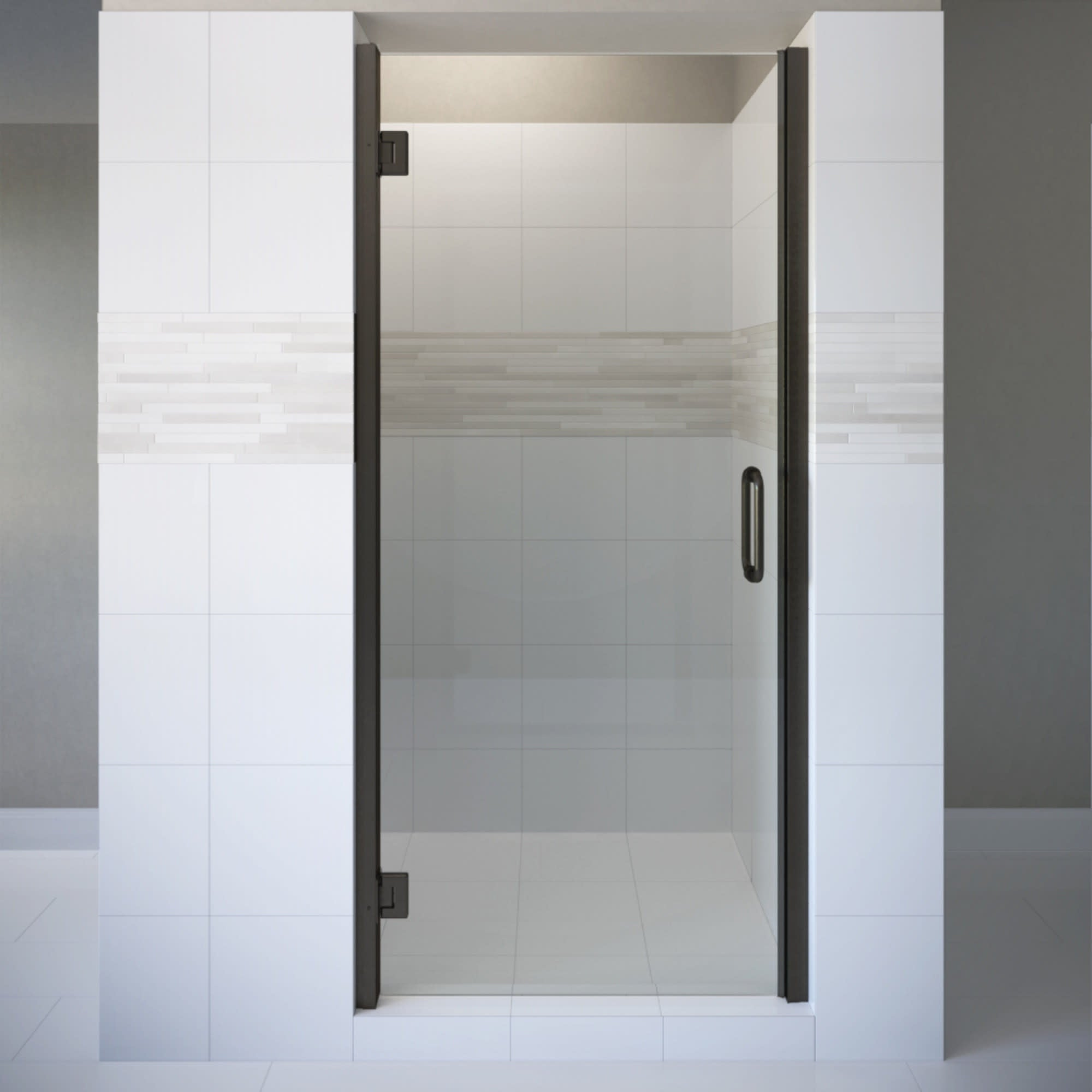 Basco Copa00a3472cl Coppia 72 High X 34 9 16 Wide Hinged Frameless Shower Door