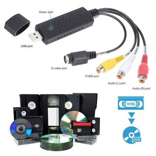 VHS-to-Digital Video Transfer Device and Software Package