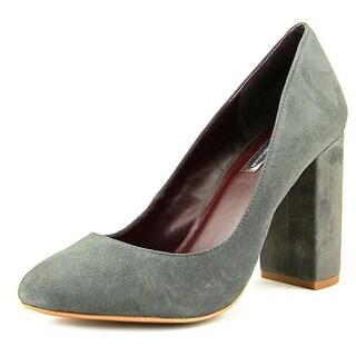BCBGeneration Franka Women  Round Toe Suede Gray Heels