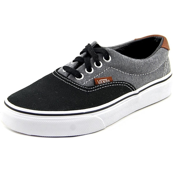 Shop Vans Era 59 Youth Round Toe Canvas Black Skate Shoe - Free ... 5a84cd4c1
