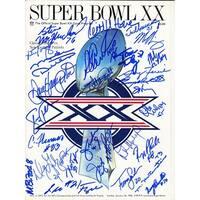 1985 Chicago Bears Team Super Bowl XX Program 30 Sigs