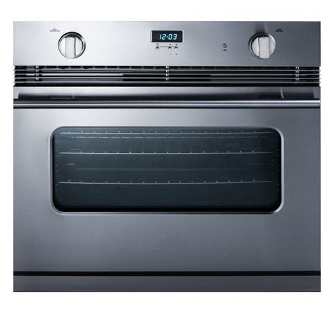 "Summit SGWO30SS 30"" Wide 3 Cu. Ft. Single Gas Oven with Convection - Stainless Steel"