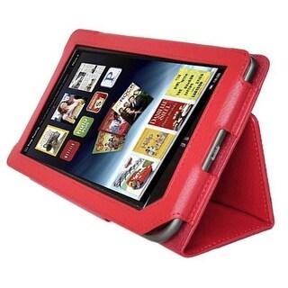 AGPtek Leather Cover Case Stand for Barnes & Noble Nook Tablet Color Red