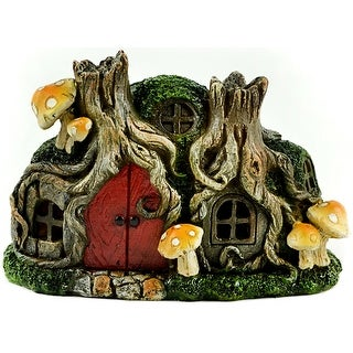 "Fairy Garden Led Tree Stump House-6.25"""