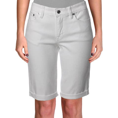 Lauren Ralph Lauren Womens Denim Shorts Cuffed Super Stretch