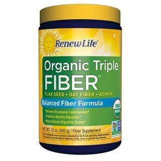 Renew Life Organic Triple Fiber - 12 oz Powder