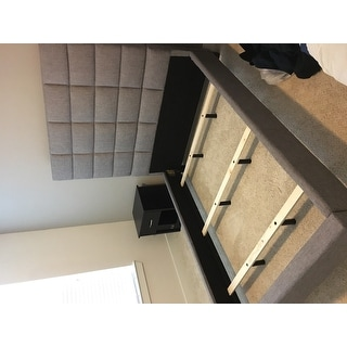 Tower High Profile Upholstered Full Bed iNSPIRE Q Modern