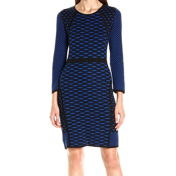 Shop Nine West NEW Blue Black Womens Size XS Polka Dot Knit Sweater Dress -  Free Shipping On Orders Over  45 - Overstock - 18855040 61c78dda9
