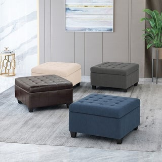 Link to Isabella Tufted Storage Ottoman by Christopher Knight Home Similar Items in Ottomans & Storage Ottomans