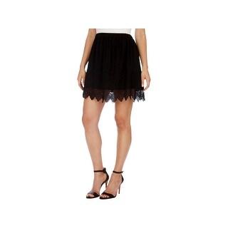 Lucky Brand Womens Mini Skirt Illusion Detail Eyelet