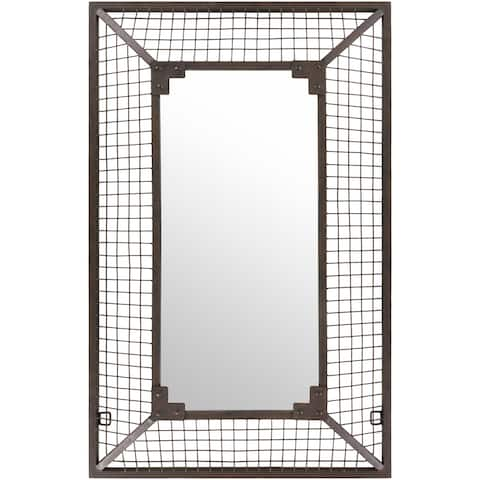 "Jaxson Weathered Wire Wall Mirror - 30"" x 47.5"""