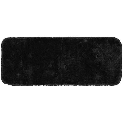 Finest Luxury Black Ultra Plush Washable Bath Rug Runner