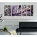 Statements2000 Silver/Gold/Purple Metal Wall Art Panels Painting by Jon Allen - Wild Imagination - Thumbnail 1
