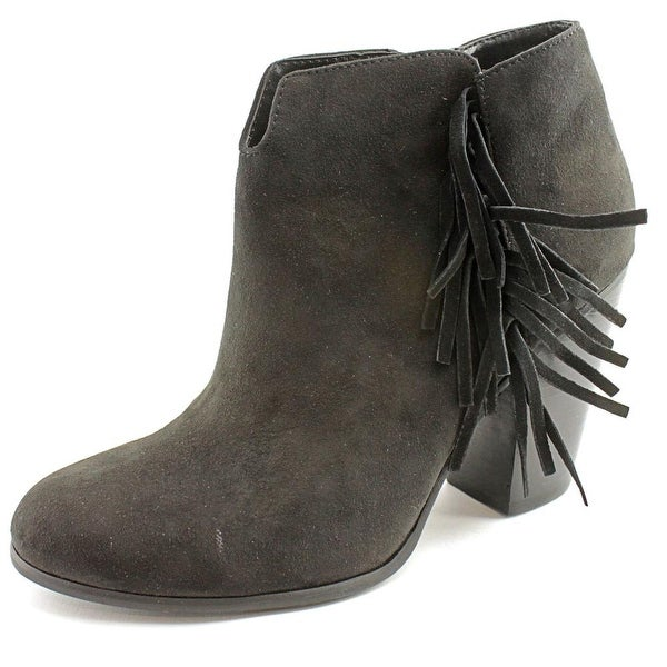 Carlos by Carlos Santana Tempe Women Round Toe Canvas Black Ankle Boot