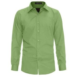 NE PEOPLE Men's Slim Fit Button Down Long Sleeve Dress Shirts S-2XL