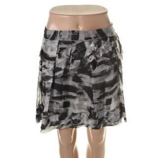 Theory Womens Mashita Chiffon Printed Mini Skirt