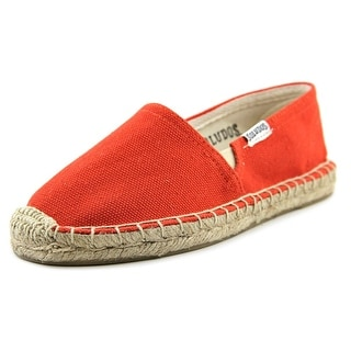 Soludos Original Espadrille Youth Round Toe Canvas Red Espadrille