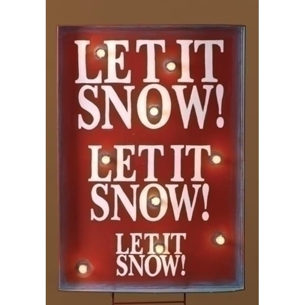 "34"" Lighted ""Let it Snow"" Christmas Sign Outdoor Decoration - RED"