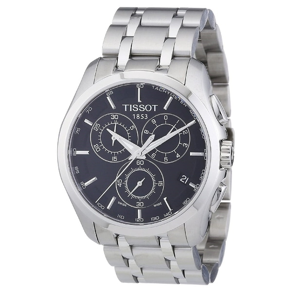 Tissot Men's T0356171105100 'Couturier' Chronograph Stainless Steel Watch - Multi. Opens flyout.