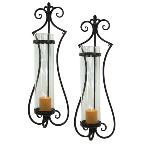Aspire Home Accents 6358 Rhodes Candle Wall Sconce (Set of 2)