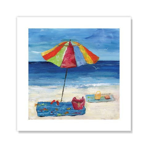 Bright Beach Umbrella I - Blue