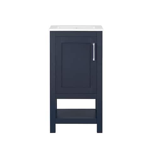 Ove Decors Vegas 18 in. Single Sink Bathroom Vanity in Midnight Blue