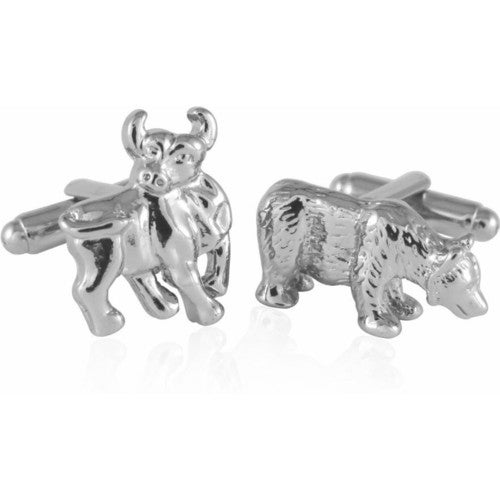 Bull and Bear Cufflinks Stock Trading