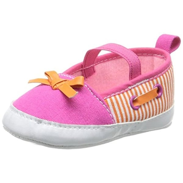 Luvable Friends Boat Shoes Infant Girls Striped - 6-12 mo