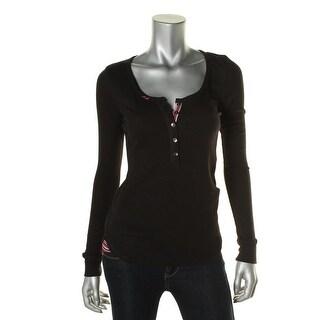 Kensie Womens Long Sleeves Stretch Sleep Shirt - S