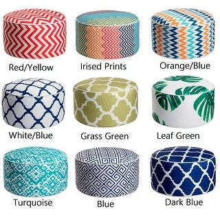 Art-Leon Outdoor Patio Inflatable Round Pouf Footstool