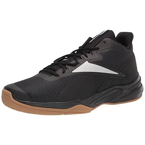 Reebok Men's More Buckets Sneaker, Black/Silver Metallic/White